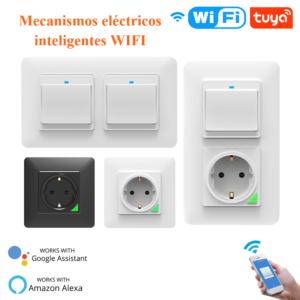 Mecanismos elétricos inteligentes, varios marcos, colores y modelos, control por voz Alexa y Google