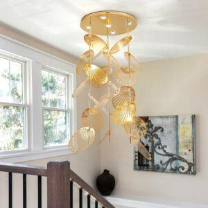 Lámpara colgante larga especial huecos escaleras techos altos