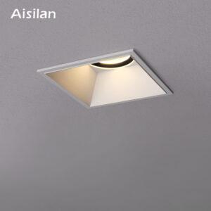 Focos empotrados LED cuadrado Aisilan casa villas lámpara de borde estrecho luces de techo aperturas CRI 93