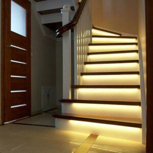 Tiras de led de 1m 2m o 3m para escaleras pasamanos luz indirecta encendido automático