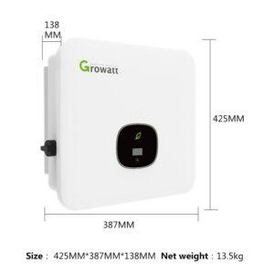 Inversor para energía solar conexión a red  8kw  9kw 10kw 11KW trifásicos marca GROWATT