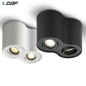 Foco doble LED para techos, instalado en superficie, potencias 10W y 14W, NO REGULABLE