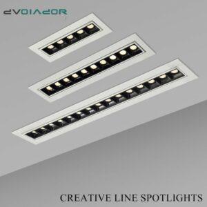 Proyector lineal empotrado en techo  potencias desde 2W hasta 20W, múltiples LED, decoración nórdica