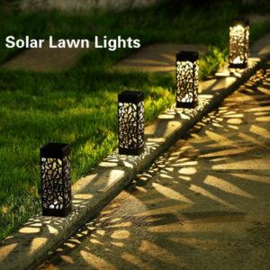 Luminaria solar para suelos paseos jardines