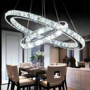 Moderna lámpara colgante de cristal 36W-2 luces LED