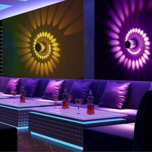 Espectacular efecto agujero en la pared multicolor RGB, decora tu pasillo, sala de juegos, mando distancia