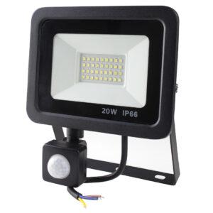 Proyector LED de exterior con sensor de movimiento, potencia 20W 30W 50W, intemperie