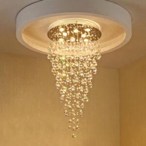 Nuevas luces colgantes de cristal modernas luces colgantes cónicas LED lámparas colgantes lámparas de habitación lámpara de escalera