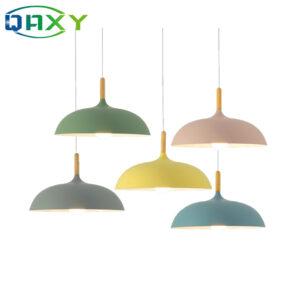Incluye bombilla LED de 12w como regalo varios colores luz colgante de comedor negro amarillo azul E27 lámparas colgantes para dormitorio Hotel
