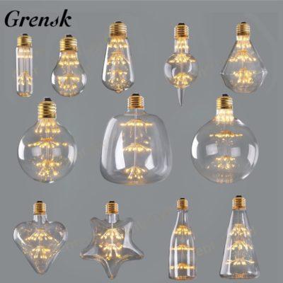 Bombillas LED de filamento formas originales
