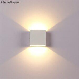Proyector aplique pared luz indirecta, efecto iluminación suave y cálida