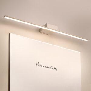 Aplique espejo baño elegante línea de diseño funcional minimalista