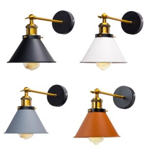 Aplique pared estilo industrial vintage, lámpara de lectura, lámpara cabecero cama mod 10074