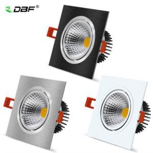 Luz LED regulable para techo 7W 9W 12W 15W bombilla Led para dormitorio cocina interior luces LED cuadradas luces empotrables de techo