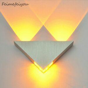 Proyector pared luz decorativa efectos luminosos cruzados, en pieza de aluminio potencia 3W