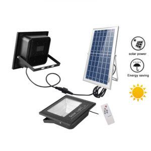Luz exterior energia solar encendido automático – instala 100 Leds