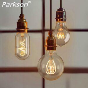 YNL Retro Edison bombilla suave espiral bombilla de filamento LED E27 220V 3W ST64 A60 G80 G95 G125 T45 T185 Retro lámpara iluminación decoración