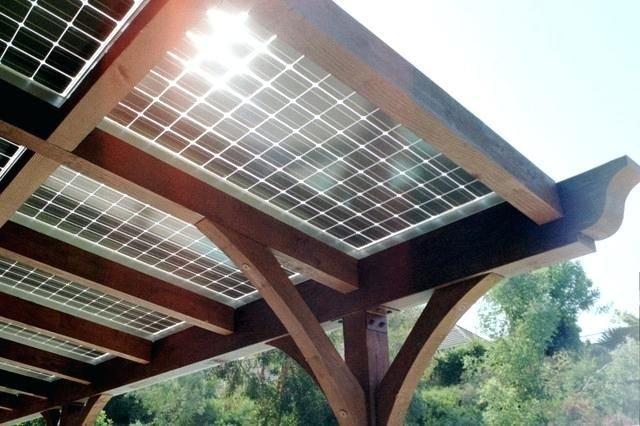 pergola solar de madera