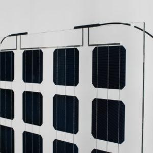 Panel solar transparente 50% para cerrar espacios 300W — 350W
