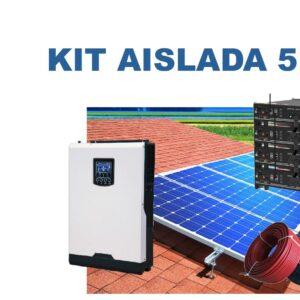 Kit autoconsumo aislada con baterías Litio desde 3Kw-5Kw