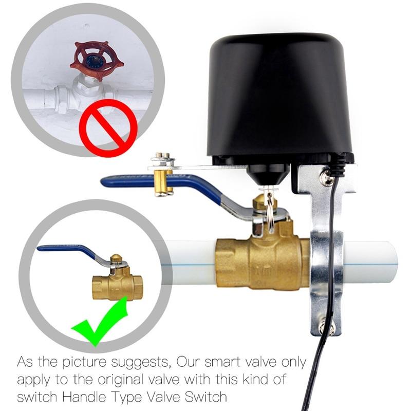 Controlador inteligente válvula de agua con Wifi para automatización del hogar Control de voz Alexa Echo y Google Home