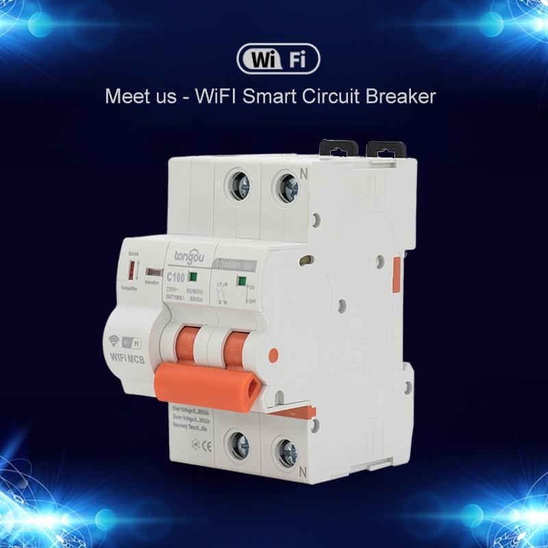Interruptor magnetotérmico para cuadro eléctrico con rearme automático y control inteligente Wifi
