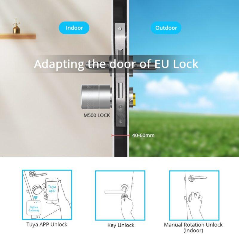 Cerradura inteligente Wifi controlada por Voz con Alexa y/o Google Home fácil de instalar